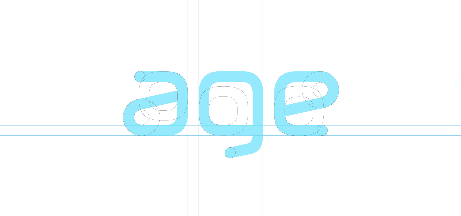 agendo typeface construction lines
