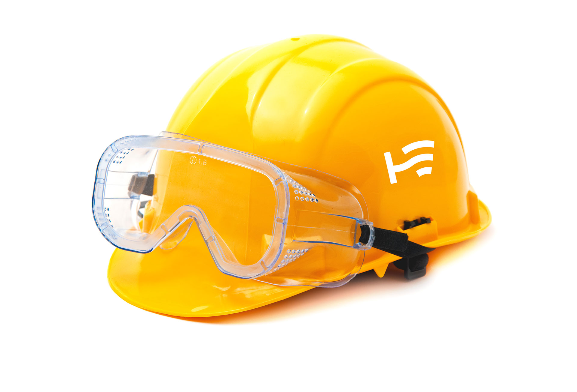 hydro electric worker hat with goggles