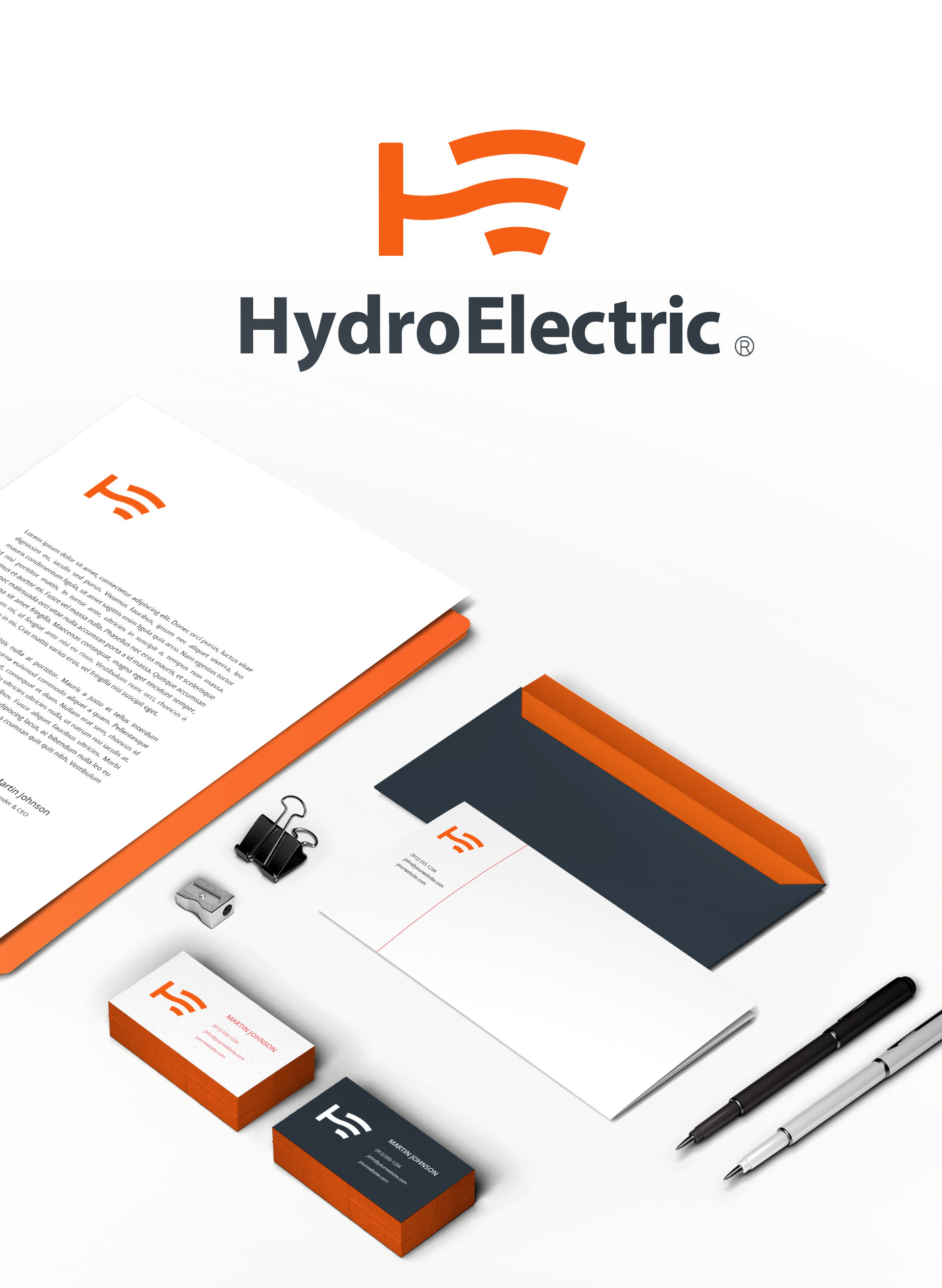hydro electric stationery